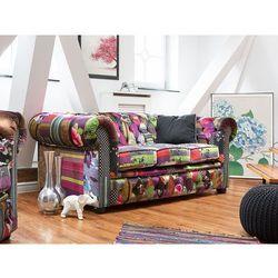 Beliani Sofa patchwork fioletowa - wypoczynek - tapicerowana - chesterfield