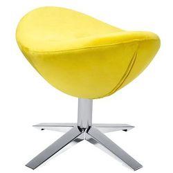 King home Podnóżek egg szeroki velvet żółty.20 - welur, podstawa stal (5900168807433)