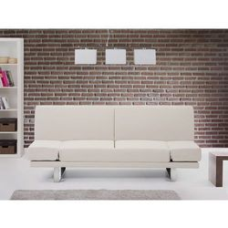 Sofa z funkcja spania bezowa - kanapa rozkladana - wersalka - YORK, Beliani z Beliani