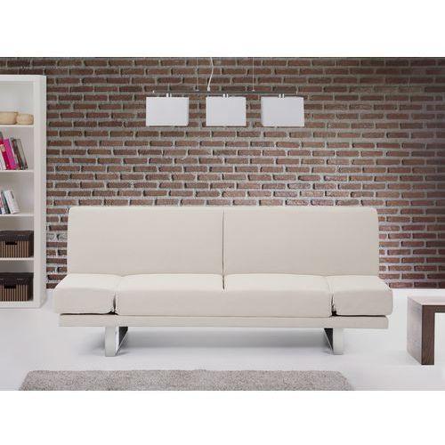 Rozkladana sofa ruchome podlokietniki - YORK bez, Beliani z Beliani