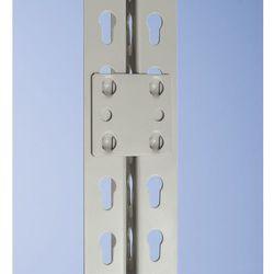 Element do regału wtykowego combi, łącznik regałowy, szary, RAL 7032, opak. 4 sz