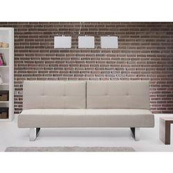 Sofa z funkcją spania jasnobeżowa - kanapa rozkładana - wersalka - dublin od producenta Beliani