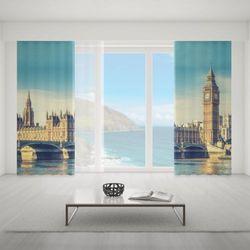 Zasłona okienna na wymiar komplet - LONDON LANDMARKS
