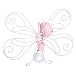 Lampa wisząca dziecięca Motyl 1xE27/60W różowa