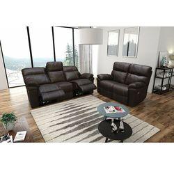 Valetta - sofa 3 relax elektryczna + sofa 2 - jasny brąz marki Interform