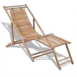 vidaXL Bambusowy leżak z podnóżkiem (8718475909095)