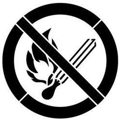 Szabloneria Szablon plastikowy do malowania znak zakaz używania otwartego ognia gp003 - 85x85 cm