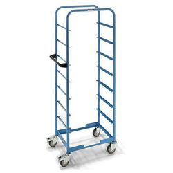 Przemysłowy wózek serwisowy, bez górnej powierzchni ładunkowej, bez bocznych kra