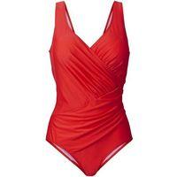 Kostium kąpielowy modelujący sylwetkę bonprix ciemnopomarańczowy