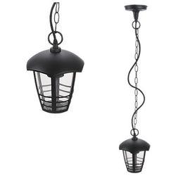 Zewnętrzna LAMPA wisząca MARSELLIE 8620 Rabalux ogrodowa OPRAWA metalowy ZWIS minimalistyczny na taras IP44 outdoor czarny