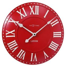 NeXtime - Zegar stojący London Table - czerwony