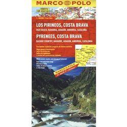 Hiszpania. Pireneje, Costa Brava 1:300 000. Mapa samochodowa, składana. Marco Polo (ilość stron 2)