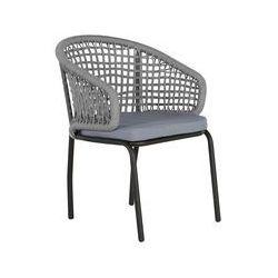 Beliani Zestaw 2 krzeseł szare/czarne PALMI (4251682205252)