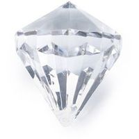 Zawieszka diament bezbarwny - 31 x 37 mm - 5 szt. marki Ap