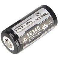 Akumulator  16340 / r-cr123 3,7v li-ion 650mah z zabezpieczeniem wyprodukowany przez Xtar
