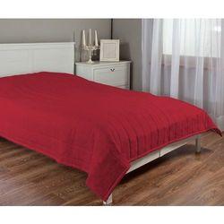 narzuta pikowana w pasy, czerwony szenil, szer.260 × dł.210 cm, chenille marki Dekoria