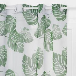 Atmosphera Firana z motywem roślinnym o wymiarach 140 x 240 cm wykonana z poliestru idealna ozdoba każdego wnętrza. (3560238328361)