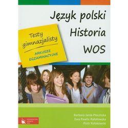 Testy gimnazjalisty Język polski Historia WOS, rok wydania (2011)