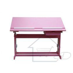 1 Biurko dziecięce regulowane ławka pod laptopa różowa