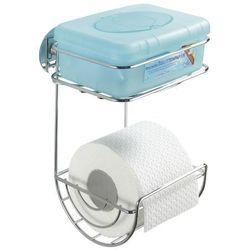 Uchwyt na papier toaletowy, turbo-loc, 2 poziomy - stal chromowana, marki Wenko