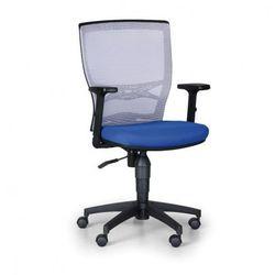 Krzesło biurowe VENLO, szare / niebieske
