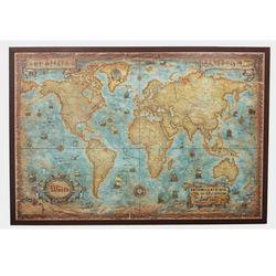 Świat mapa ścienna stylizowana w aluminiowej ramie ze sklepu ArtTravel.pl