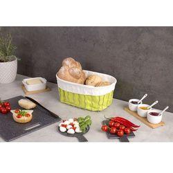 Zeller Koszyk na chleb, pieczywo, owoce - kolor zielony, 32x22x14 cm,