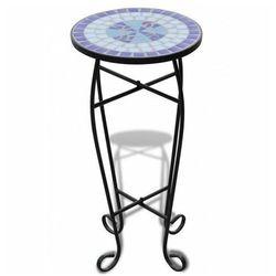Niebiesko-biały mozaikowy stolik ogrodowy - Cadix