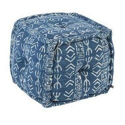 Orientalny kwadratowy puf 40x40 cm niebieski - Varanasi
