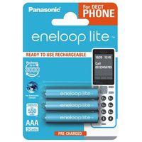 Panasonic 3 x akumulatorki  eneloop lite r03 aaa 550mah bk-4lcce/3be (blister)