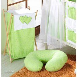 MAMO-TATO Kosz na bieliznę Serduszka w kwiatuszkach zielone, kup u jednego z partnerów