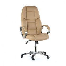 Krzesło biurowe skórzane kevin, beżowe marki B2b partner