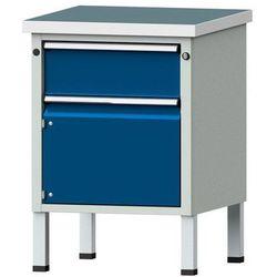 Kompaktowy stół warsztatowy, blat uniwersalny,szer. x głęb. 605 x 650 mm, 1 szuflada, 1 szafa marki Anke w
