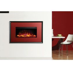 Kominek Riva2 670 Evoke Glass - ramka czerwona - grafitowa.