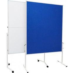 2x3 Taniej!tablica moderacyjna tekstylna dwustronna, 1-częściowa na kólkach 120x150cm