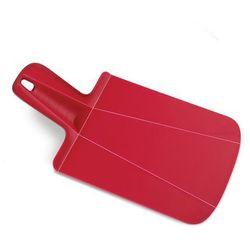 - chop 2 pot deska do krojenia składana mini czerwona wymiary: 17 x 31,8 x 2 cm marki Joseph joseph