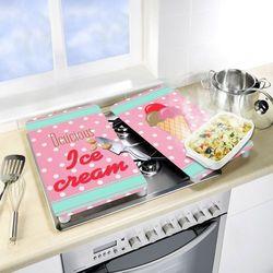 Szklane płyty ochronne ICE CREAM na kuchenkę – 2 sztuki, WENKO, B06WGZ1B9X