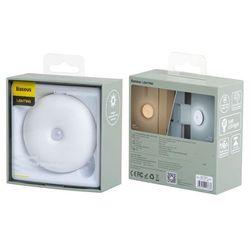 Baseus Light Garden Series | Bezprzewodowa lampka nocna LED z białym światłem z czujnikiem ruchu | biały - Białe (6953156213821)