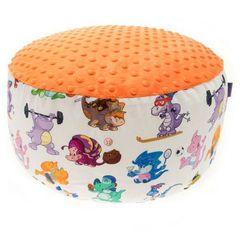 Cuddly Zoo, Dino sportowcy, Orange, duża pufa, towar z kategorii: Pozostałe meble do pokoju dziecięcego