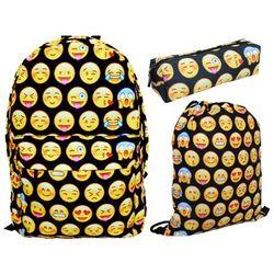 Zestaw Plecak+Worek+Piórnik Full Print Emoji 34, towar z kategorii: Tornistry i plecaki