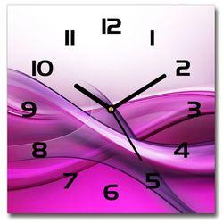Zegar ścienny szklany kwadratowy Fale tło