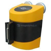 Taśma ostrzegawcza rozwijana w kasecie mocowanej na magnes. maxi. zapięcie magnetyczne (długość 9m) od pr