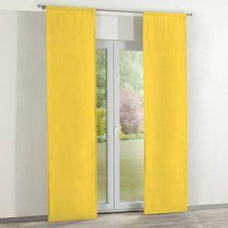 Dekoria Zasłony panelowe 2 szt., żółty, 60 × 260 cm, Loneta