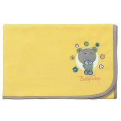 Babyono - Kocyk polarowy 75 x 100 cm - żółty - MIś