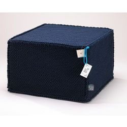 We love beds Puf comfortable flat darc blue by