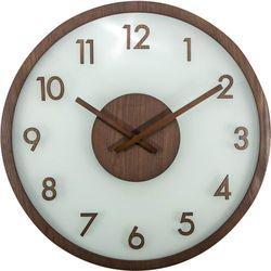 Zegar ścienny Frosted Wood brown by Nextime