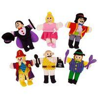 Bigjigs toys Cyrkowcy - pacynki na palec 6 elementów bigjigs