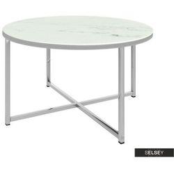 Selsey stolik kawowy alisma o średnicy 80 cm - srebrna podstawa