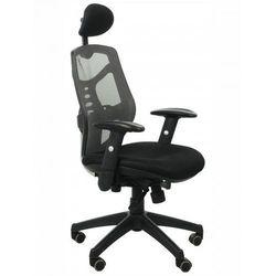 Fotel biurowy gabinetowy KB-8905/SZARY - krzesło obrotowe