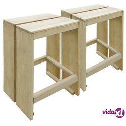Vidaxl ogrodowe stołki barowe, 2 szt., impregnowane drewno sosnowe fsc